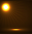 abstract background with glowing sun rays vector image
