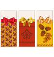 Autumn Knitted Banners Set 1 vector image