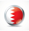 Bahrain flag button vector image