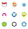 Logo design elements set 71 vector image