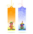 Tags with clowns vector image