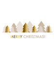 abstract decorative Christmas  gold and beige pale vector image vector image