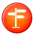 Direction signs icon flat style vector image