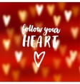 Modern abstract blurred red background with bokeh vector image