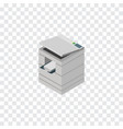 isolated photocopier isometric scanner vector image