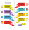 Infographic Concept in Flat Design Style vector image