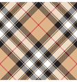 Pride of scotland gold tartan fabric texture vector image