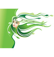 Abstract Nature Girl vector image