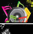 music banner grunge style vector image