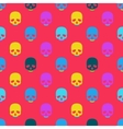 Colorful seamless pattern with skull vector image