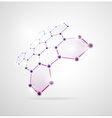 Abstract molecular structures vector image