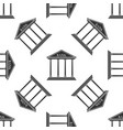 bank building icon seamless pattern vector image