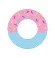 delicious and sweet donut desert vector image