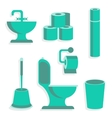 Flat Toilet Icons vector image