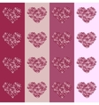 Floral heart on striped background seamless vector image