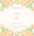 Floral vertical vintage invitation Wedding design vector image