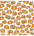 halloween pumpkin comic seamless pattern cartoon vector image