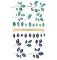 leaves and branches set vector image