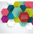 Modern Design with paper hexagones vector image