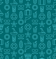 Seamless Texture with Hand Drawn Vocation Objects vector image