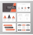 Set of red and gray template for multipurpose vector image