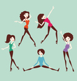 girl dance vector image
