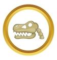 Dinosaur skull icon vector image