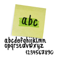 marker alphabet lowercase vector image