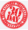 30 day trial stamp vector image