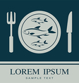 fish Fork and Knife icon vector image