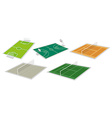 Set of courts vector image