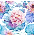 Nice floral watercolor seamless pattern vector image
