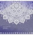 Beautiful Indian floral mandala ornament vector image