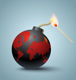 Bomb global and mutch vector image vector image