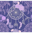 seamless pattern with dream catcher vector image