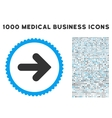 Arrow Right Icon with 1000 Medical Business vector image