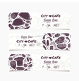 Banners set with hand drawn food Round doodle vector image