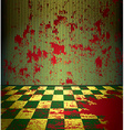 Bloody room vector image
