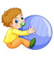 Boy and ball vector image