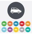 Car sign icon Hatchback symbol vector image