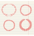 chalk doodle sketch of wreath vector image