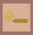 flat shading style icon kids felt-tip marker vector image