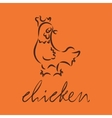 logo of chicken vector image