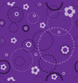 seamless violet pattern with doodles vector image