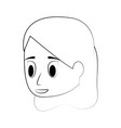 young woman face cartoon vector image