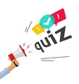 Concept of questionnaire show sing question vector image vector image