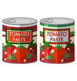 Tomato paste in aluminum can vector image