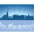 Galway Ireland skyline vector image