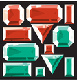 Gems of ruby and emerald vector image