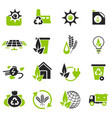 alternative energy icons vector image